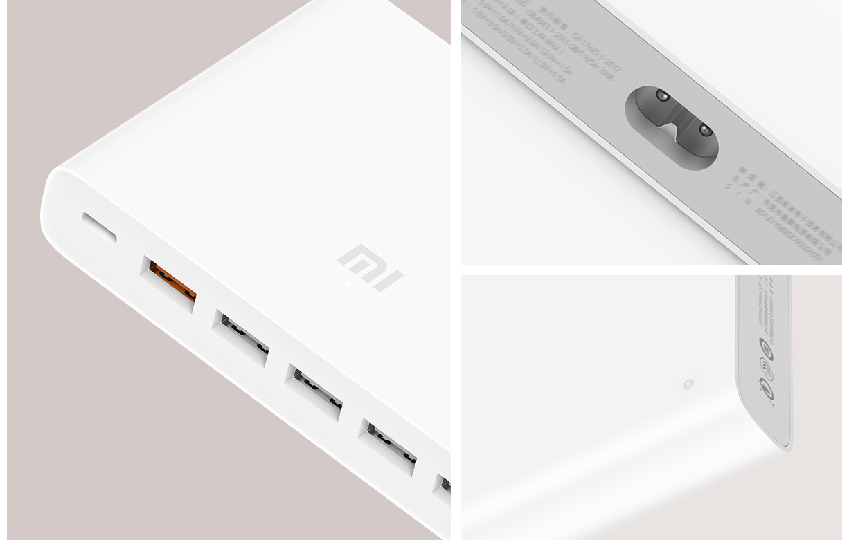 Image 5 - Original Xiaomi Mi USB C 60W Charger Type C & USB A 6 Ports Output Dual QC 3.0 Quick Charger 18W x 2 + 24W (5V=2.4A MAX)-in Mobile Phone Chargers from Cellphones & Telecommunications