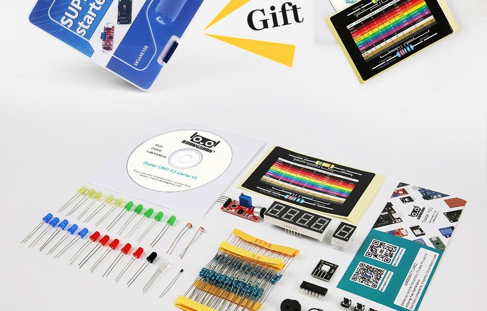 2019 najbardziej opłacalne DIY projekt startowy elektroniczny zestaw do majsterkowania z samouczkiem kompatybilny z Arduino IDE UNO R3 CH340 9
