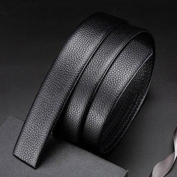 Simple belt belt body 100% first layer cowhide men's belt leather headless automatic buckle belt men's belt body belt купить