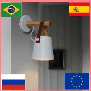 Image 2 - Lâmpada de parede moderna minimalista, ajustável, de parede, iluminação para casa, lateral da cama, decoração de parede, para espelho do banheiro, lâmpada de parede de madeira e27