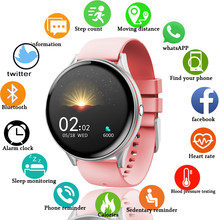 LIGE 2020 Neue Full Touch Screen Smart Watch Frauen männer Sport Herzfrequenz Blutdruck Wasserdichte Smartwatch uhren inteligentes(China)