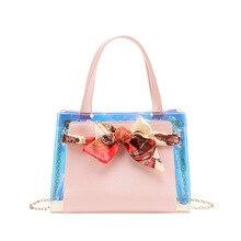 2021 New Japanese Fashion Trend Colorful Women's Designer Bag Chain Bag Laser Bag Silk Scarf Bag Purses And Handbags Women Bags