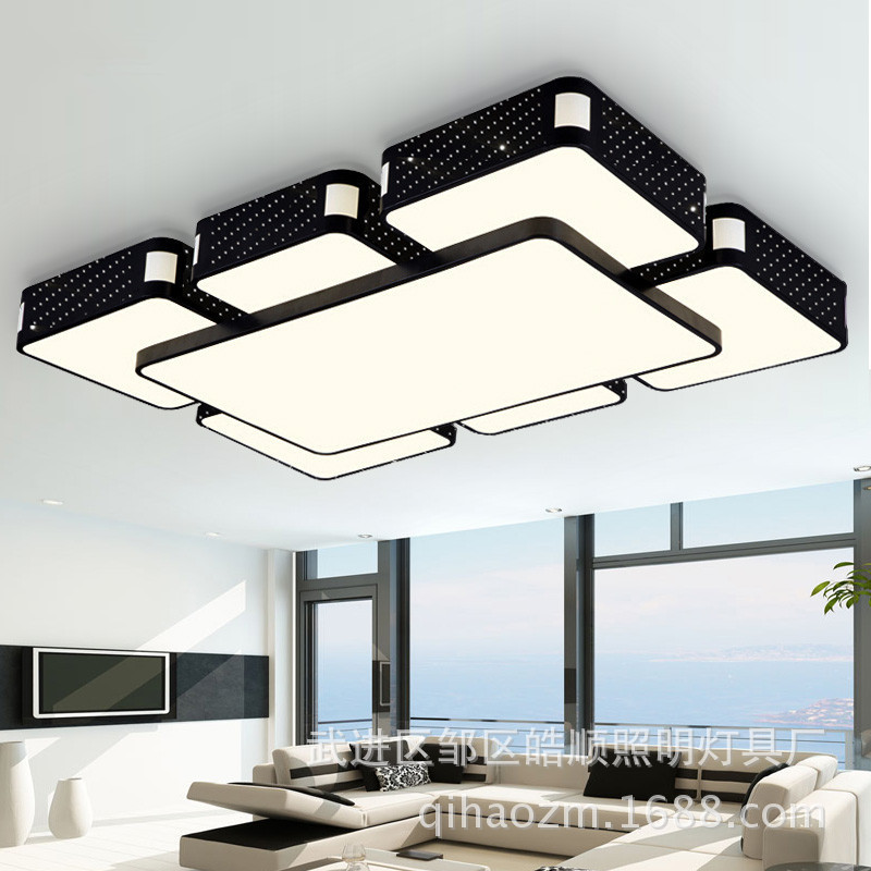 Manufacturers Direct Selling Rectangular Living Room Lights Glorious LED Ceiling Lamp Simple Restaurant Bedroom Lighting Sky Cit