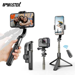 UPMOSTEK Gimbal Stabilizer for Phone Automatic Balance Selfie Stick Tripod with Bluetooth Remote for Smartphone Gopro Camera