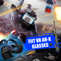 AR Glasses 3D VR Headphones Virtual Reality 3D Glasses Cardboard VR Headsets For 4.7-6.3 Inch Phone For FIITs VR AR-X Active