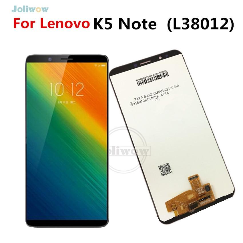 6,0 ЖК дисплей для Lenovo L38012 K5 Note ЖК дисплей сенсорный экран дигитайзер сборка 1440x720 Snapdragon 450 для Lenovo K5 NOTE LCD