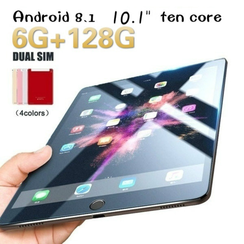 2020 New WiFi Tablet PC 1280*1800 IPS Screen 10.1 Inch Ten Core 6G+128G Android 8.1 Dual SIM Dual Camera Rear 5.0MP 4G Phone
