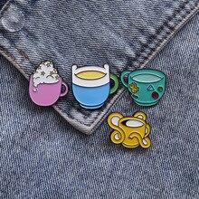 European and American creative animation alloy drop oil brooch cute cartoon enamel top grade  badge Cowboys shirt lapel pin