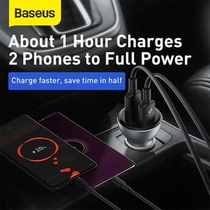 Image 4 - Baseus 45w carga rápida 4.0 carregador de carro usb para samsung xiaomi 10 qc 4.0 3.0 pd 3.0 carregamento rápido do carro para o telefone carregador de carro