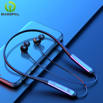 BassPal T8 Bass Sound Bluetooth Earphone Neckband IPX7 Waterproof Sport Wireless Earphone Silicone Portable Bluetooth Earphone