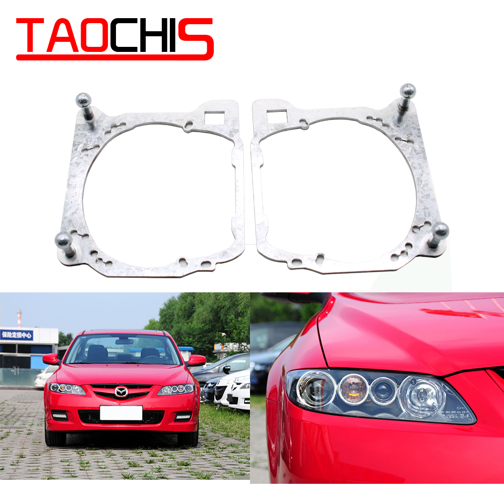 Taochis Car-Styling Frame Adapter Module DIY Bracket Holder For Mazda 6 GG Hella 3 5 Projector Lens
