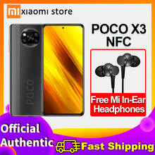 Smartphone xiaomi poco x3 nfc versão global 6gb 64gb/128gb snapdragon 732g 64mp quad camera 6.67