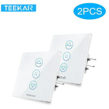 Teekar 4th Generation Smart Curtain Switch Tuya for Electric Motorized Blind Roller Shutter Works with Alexa Google Home