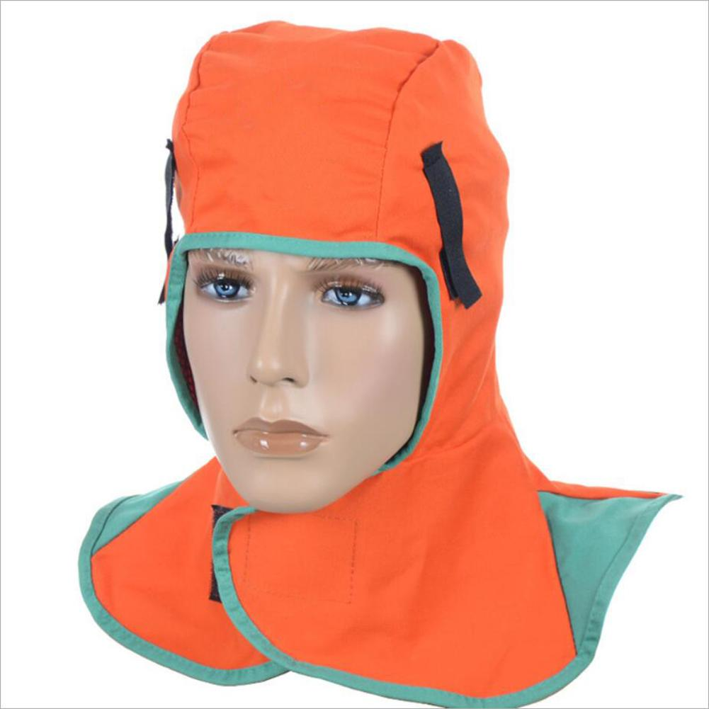 Flame Retardant Cotton Cloth Welding Hood Welding Caps Flame Retardant Helmet Hat Welding Neck Protection Welder Safety Cover