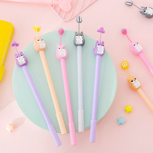 4 Pcs/lot Korean Kawaii New Cute Cartoon Creative 0.38mm Pens Gel for School Writing Novelty Stationery Gifts