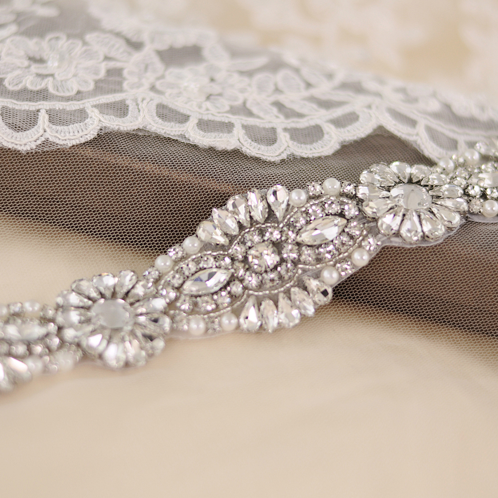 TRiXY S237 Rhinestones Wedding Belts Sashes Crystal Wedding Dress Belt Wedding Accessories Bride Bridal Sash Belts Fast Delivery