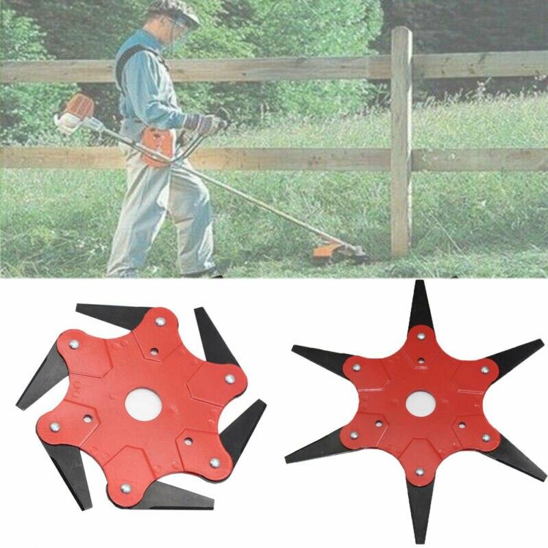 Universal 6 Steel Blades Razors Grass Weed Brush Cleaner Trimmer Head Cutter