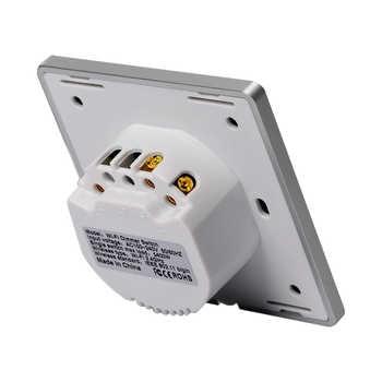 Lonsonho Smart WiFi Dimmer Switch EU 220V Tuya Smartlife Wireless Remote Touch Switch Metal Frame Works With Alexa Google Home
