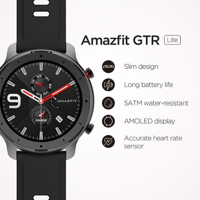In Stock Amazfit GTR 47mm Lite Smart Watch Swimproof Smartwatch 24 Days Battery for Android ios phone 2