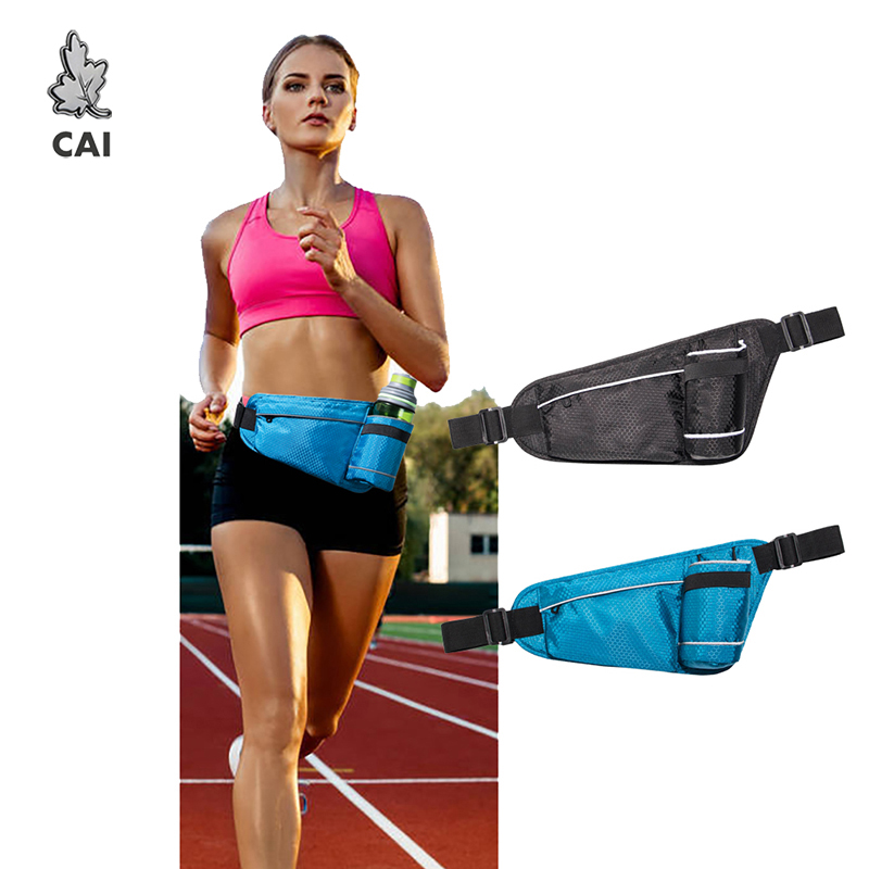 CAI Women/Men Casual Movement Waist Bag Functional Money Phone Pouch Outdoor Waterproof Canvas Pack Belt Bag Fanny Chest Bags