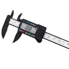 цена на LCD Digital Electronic Carbon Fiber Vernier Caliper Gauge Micrometer Measuring Tool 0-150mm Plastic Digital Caliper