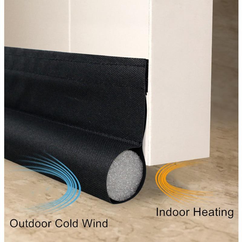 96CM Self-adhesive Under Door Draft Stopper Soundproof Foam Sealing Strip Dustproof Oxford Cloth Weather Stripping Door Seal