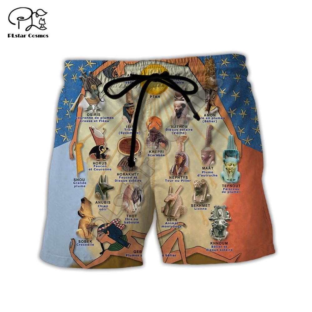 PLstar CosmosHorus Ancient Horus Egyptian God Eye of Egypt Pharaoh Anubis face 3dPrint Summer Short pants Shorts Men/Women S-3