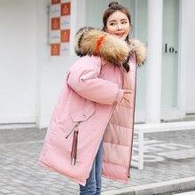 2019 women Long Parkas Winter Thicken Warm -25 degrees hooded outwear windproof jacket Coats plus size M-3XL