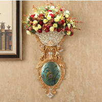 European style wall mounted three dimensional angel vase, wall decorations, home Christmas decoration craft