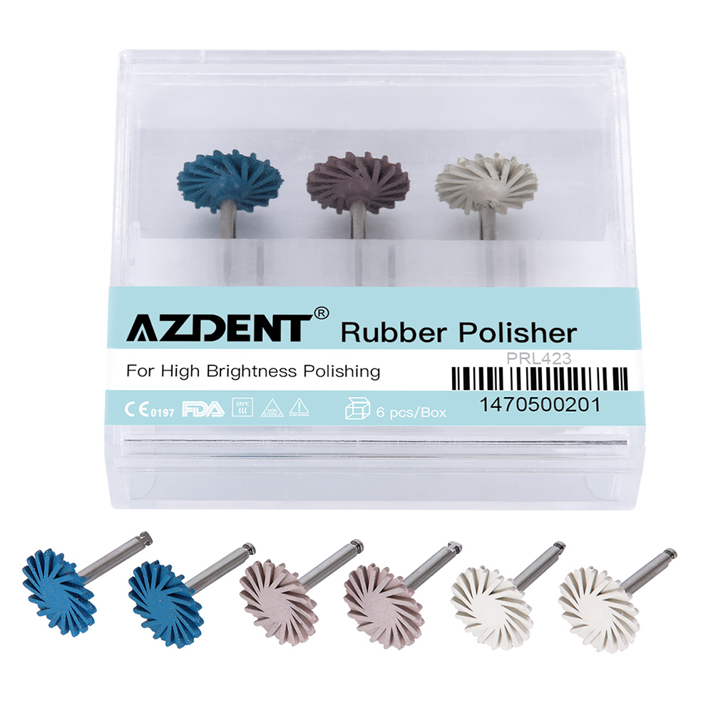 6pcs/set Dental Composite Resin Polishing Disc Kit Spiral Flex Brush Burs Diamond System RA Disc 14mm Wheel