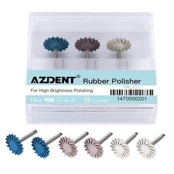 6pcs/set Dental Composite Resin Polishing Disc Kit Spiral Flex Brush Burs Diamond System RA Disc 14mm Wheel