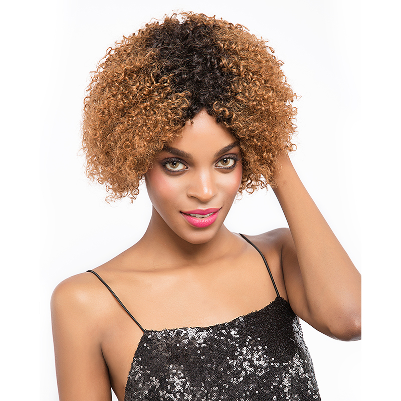Sophie's Short Human Hair Wigs For Black Women Jerry Curl Human Hair Wigs Non Remy  4 Colors Brazilian Hair Jerry Wigs