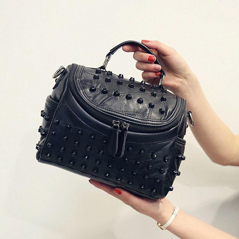 Women's Genuine Leather Bag 2019 New Luxury Sheepskin Messenger Bags Handbags Famous Brands Designer Female Handbag Shoulder Bag