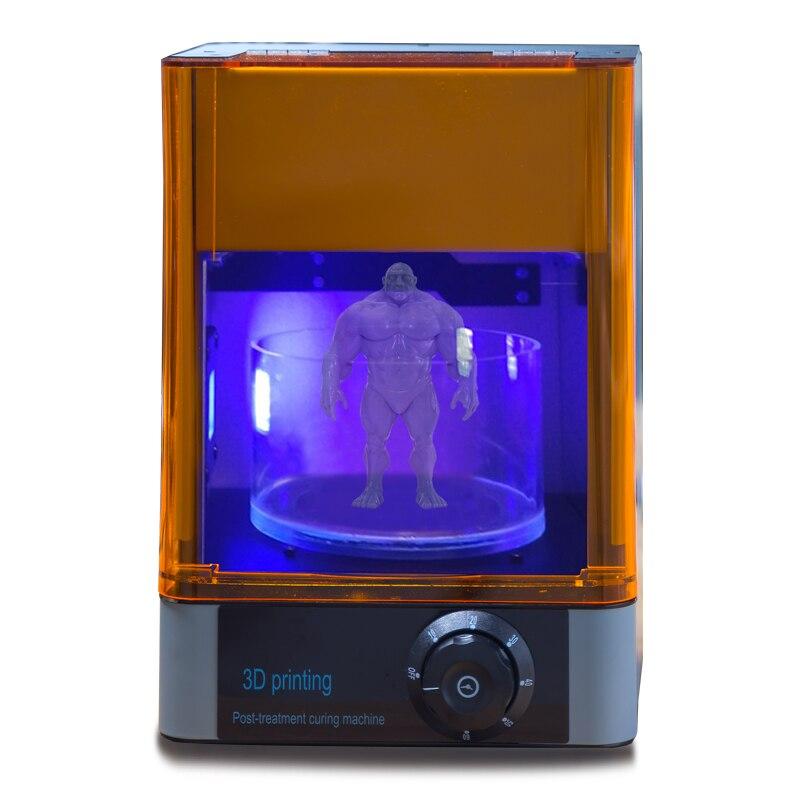 DLP/LCD/ SLA resin 3D printer UV curing Rotating&Timing machine 400 405nm wavelength UV LED Lamp curing  box3D Printers   -