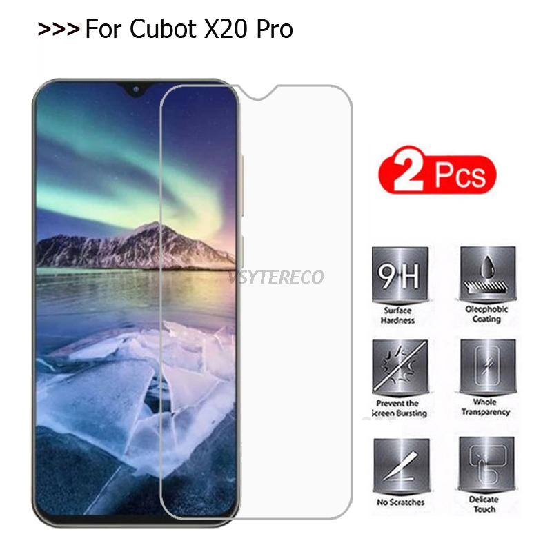 2PCS Cubot X20 Pro Tempered Glass For Cubot X20 Pro Case Screen Protector Cover Mobile Phone Film For Cubot X20Pro Glass Cover