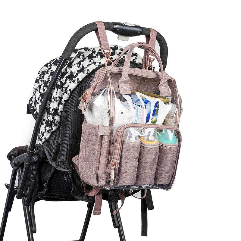 Bolso de maternidad multifuncional plegable portátil para bebé con mosquitera para el cuidado del bebé - 3
