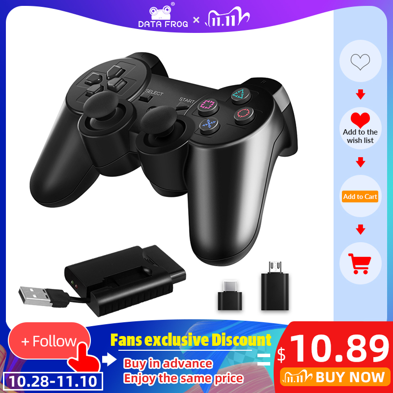 DATA FROG 2 4 G Wireless Gamepad for PS3 PS2 Game Joystick Gamepad for PC Joypad Game Controller for Android Smart Phone TV Box