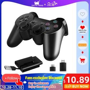 Image 1 - DATA FROG 2,4G беспроводной геймпад для PS3/PS2 игровой джойстик геймпад для ПК джойстик игровой контроллер для Android смартфон/ТВ коробка