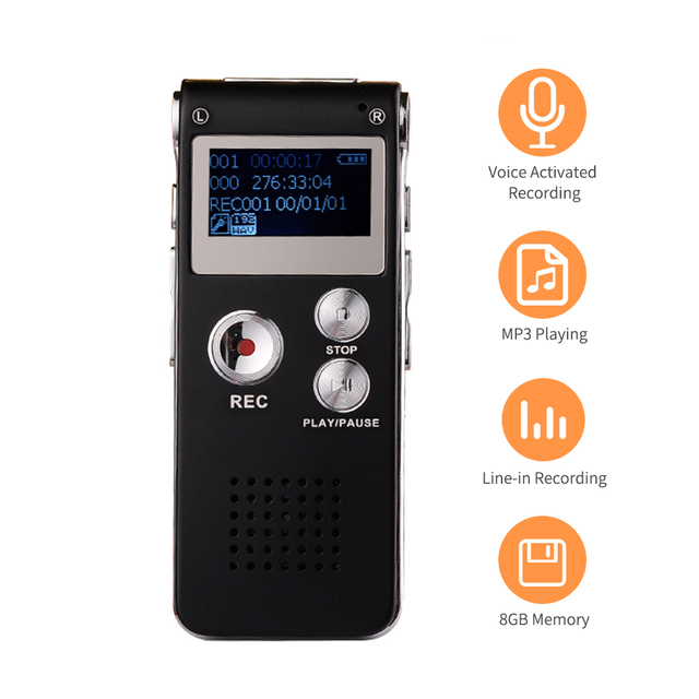 8GB Voice Activated Recorder for Telephone Recording 2