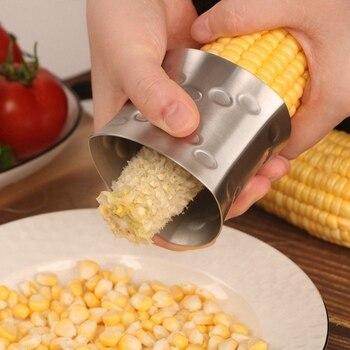 Cepilladora de maíz de acero inoxidable peladora rotativa doméstica trilladora de maíz separador práctico electrodomésticos de cocina aparatos duraderos M