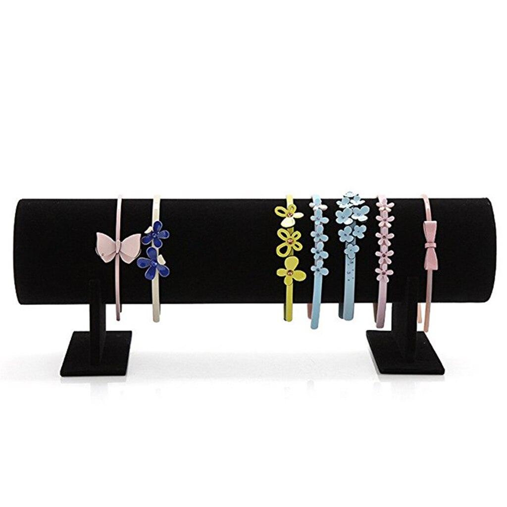 27cm Black Velvet Jewelry Holder Retail Room Necklace Display Stand Racks