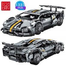 MOC yaratıcı ünlü yarış araba serisi yapı taşları modeli tuğla çocuk montaj Diy oyuncaklar doğum günü hediyeleri erkek arkadaşı için