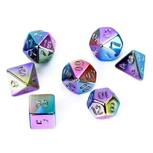 7Pcs Polyhedral Dice Double-Colors Polyhedral Game Dice for RPG Dungeons and Dragons D4, D6, D8, D10, D12, D20 Table Game