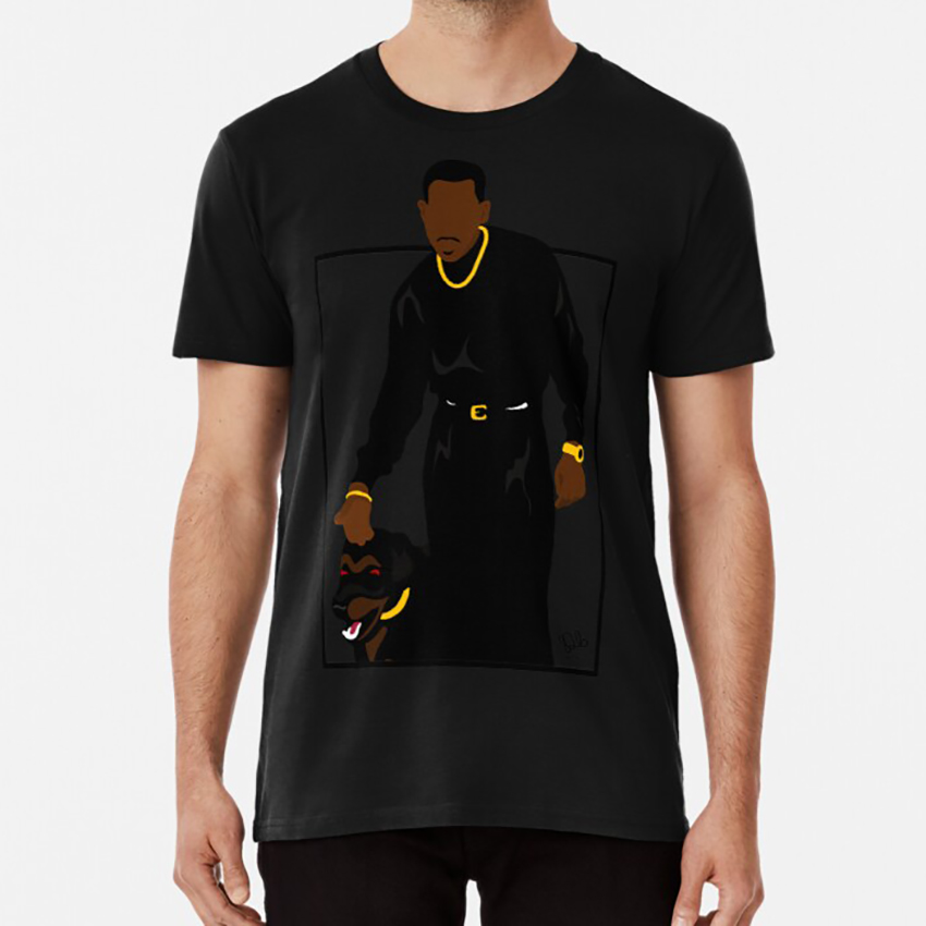 <font><b>Suspicious</b></font> Minds ( Square ) T Shirt Coming To America Comedy Eddie Murphy Aresenio Africa Movies 90s Black Movies image