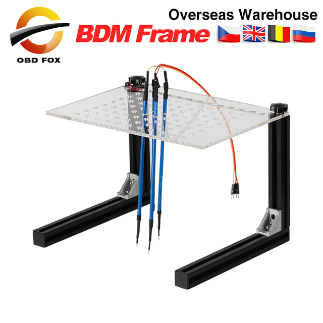 Programmeur de cadre BDM LED, ensemble complet pour KESS / KT / Fgtech Galletto / BDM100 outil de réglage de puce ECU de voiture avec 4 stylos de sonde