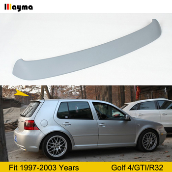 R32 style ABS Roof wing spoiler For VW Golf 4 Hatchback GTI 1997-2003 year Matte gray MK4 roof spoiler