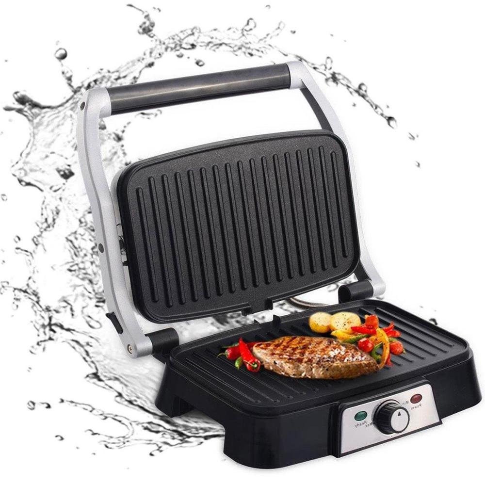 Aigostar Hitte 30HFA - Panini Maker/Gontact Grill, Sandwich Press, Electric Grill, 1500 Watt, Cool Touch, Nonstick. image