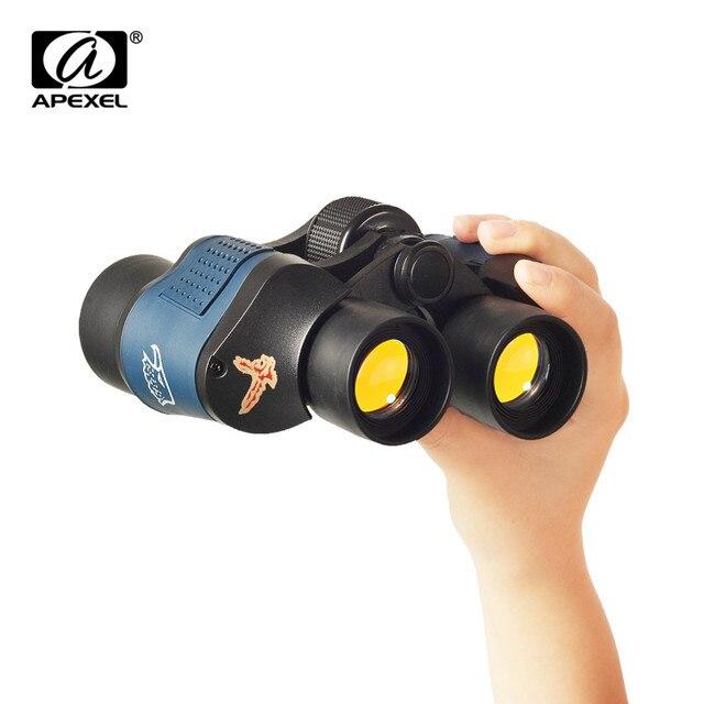 APEXEL Vision nocturne 60X60 jumelles haute clarté télescope Hd 10000M haute puissance pour la chasse en plein air optique Lll binoculaire fixe