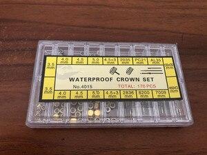 Image 1 - Assortiment Van 170 Stuks Rvs Waterdichte Crown Set En Horloge Steel Set Voor Horloge Reparatie