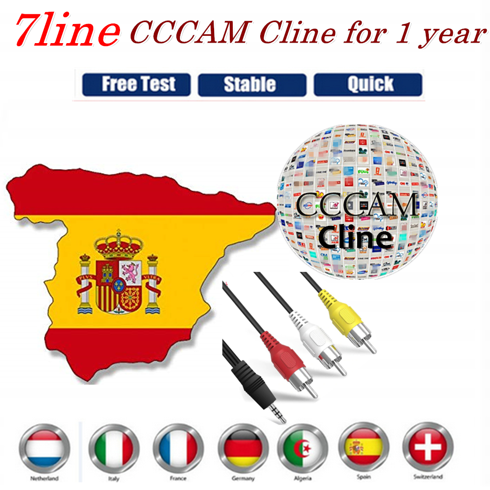 European Cccam Europe 2020 Latest CCCam Cline Is Suitable For Spain Portugal Germany Poland GTmedia V8 Nova Satellite TV Receive